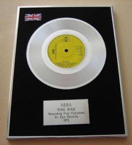 ABBA - RING RING PLATINUM Single Presentation DISC